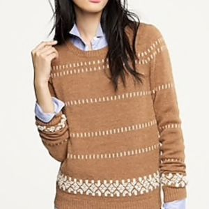 Fair isle sweater crew neck wool merino wool XXS